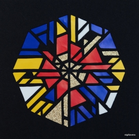 Pascal-cirkel á la Mondrian 1* (2016) 15x15 cm SOLGT
