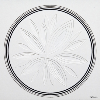 Reliefcirkel I (2016) 20x20 cm. Pris 300 kr.