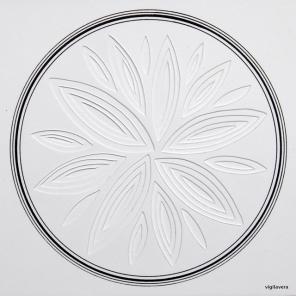 Reliefcirkel II (2016) 20x20 cm. Pris 300 kr.