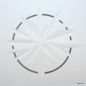 Reliefcirkel Flora Danica stor (2016) 25x 25 cm. Pris 400 kr.
