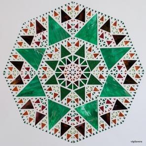 Pascalcirkel Kobber (2016) 50x50 cm