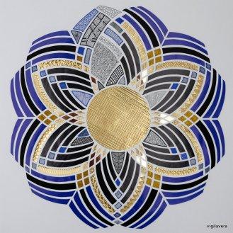 Blå mønsterbryder (2017) 50x50 cm
