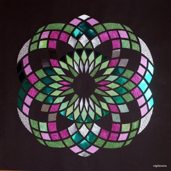 Euklid Fyrværkeri (2016) 70x70 cm SOLGT