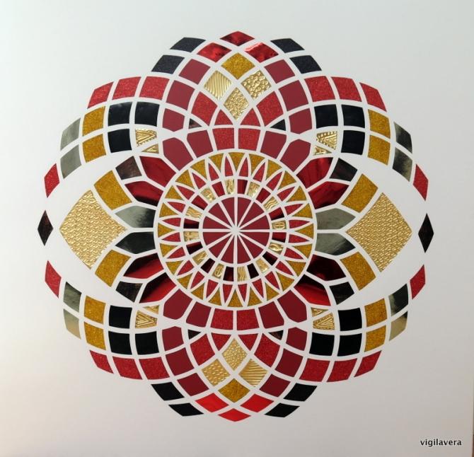Euklid Red Elements (2016) 70x70 cm. Pris 1.900 kr.