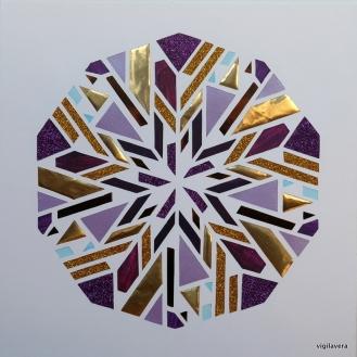 Mini-Penta-Pascal Purple-gold (2017)* 20x20 cm