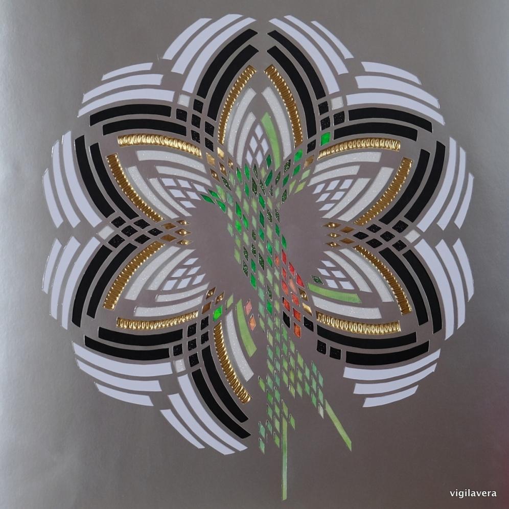 Svaner og nælder (2017) 40x40 cm SOLGT