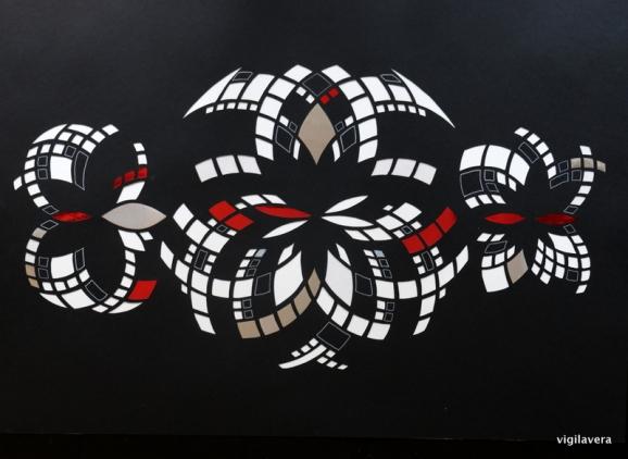 Euklid Spejlinger - negativ A (2017) 70x100 cm. Pris 2.500 kr.