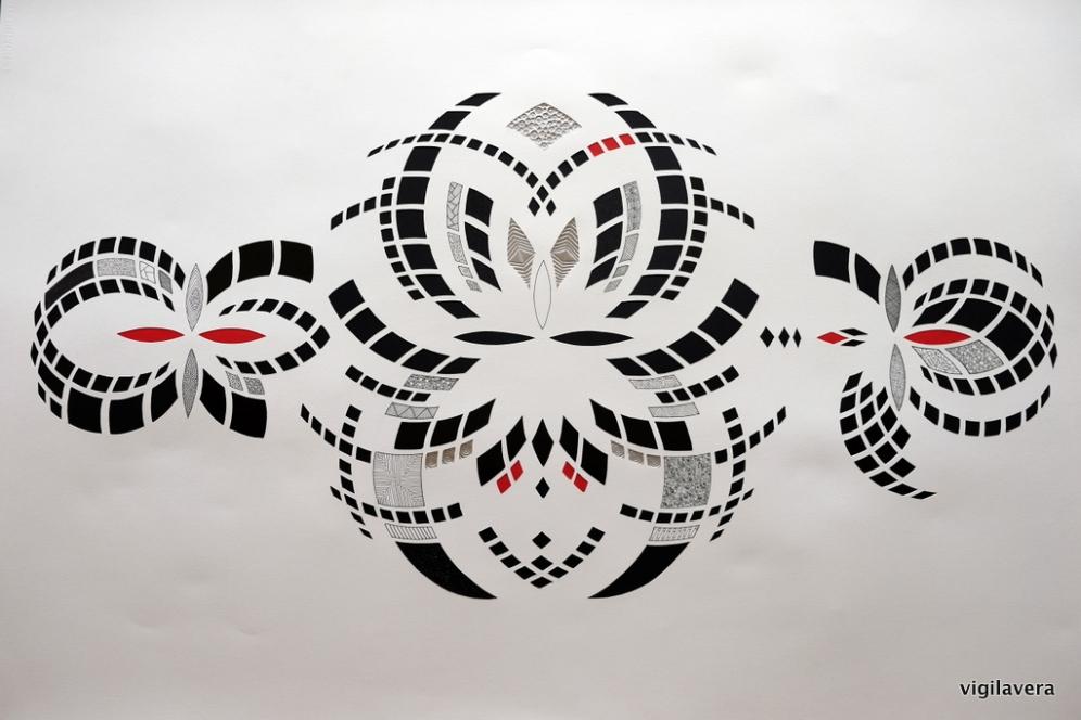 Spejlinger positiv (2016) 74x105 cm. Pris 3.500 kr.