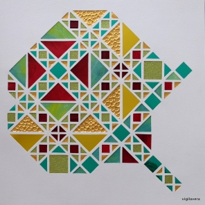 Boxkite Detalje Fisk (2018) 30x30 cm. Pris 500 kr.
