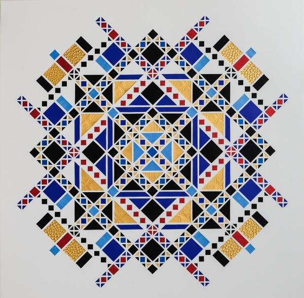 Boxkite Kingchess (2018) 70x70 cm. 2.800 kr.