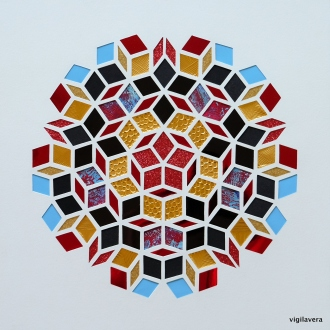 Penrose - Blåt blod Blue blood (2018) 30x30 cm. Pris 800 kr.