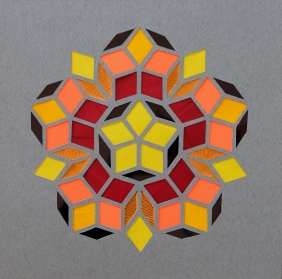 Penrose Golden Autumn A (2018) 21x21 cm. Pris 500 kr.