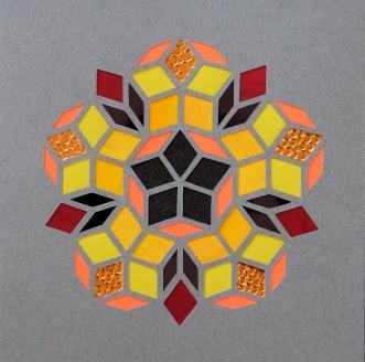 Penrose Golden Autumn B (2018) 21x21 cm. Pris 500 kr.