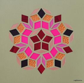Penrose Pink Autumn A (2018) 21x21 cm. Pris 500 kr.