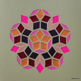 Penrose Pink Autumn B (2018) 21x21 cm. Pris 500 kr.