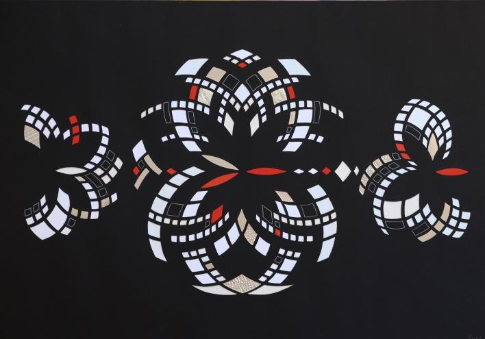 Euklid Spejlinger negativ B (2017) 70x100 cm. Pris 2.500 kr.