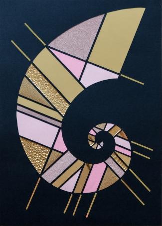 Spiral Overflødighedshorn Baby C. 42x30 cm. (2019). Pris 1.400 kr.
