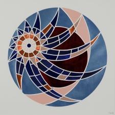 Spiral Venus Aftenstjerne/Eveningstar (2020). 50x50 cm. SOLGT