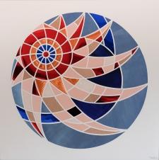 Spiral Venus Morgenstjerne/Morningstar (2020). 50x50 cm. SOLGT