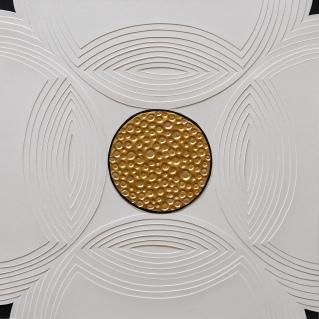 Relief Kakkel Guldbobbel. 30x30 cm (2016). Pris 400 kr.