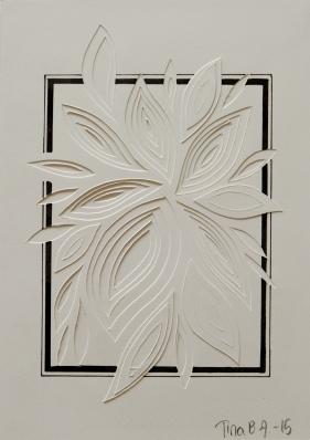 Relief Rektangle Flower. 10x15 cm.