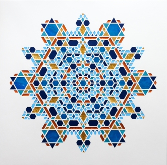 HEX Winter Star (2020), 70x70cm. Pris 1.900 kr.